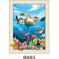 Quality Stunning Sea World Animals Painting 5D Pictures / Lenticular Photo Printing for sale