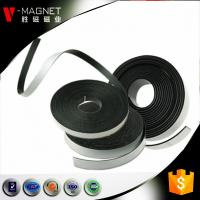 Buy 3M adhesive lamintaed magnetic material soft strong rubber 3M adhesive magnetic strips at wholesale prices