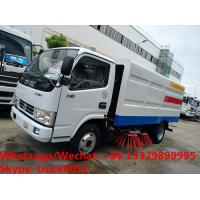 Quality HOT SALE! dongfeng 4*2 RHD smaller 95hp diesel road sweeping truck, customized dongfeng 4*2 RHD diesel street sweeper for sale