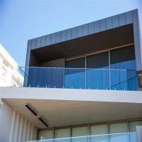 Quality Balcony stainless steel spigots Mount Tempered glass Railing system for sale