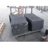 Quality Black With Snow White Natural Stone Slabs Nero Biasca Granite Pavement Stone for sale