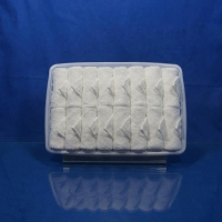 Quality bright white rolled  scented Disposable cotton airline towel in tray for sale