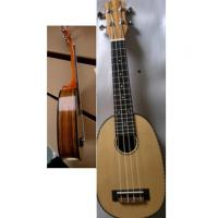 Quality Polished Round Spruce Solid Wood Hawaii Guitar Ukulele Four String Mini Guitar AGUL26 for sale