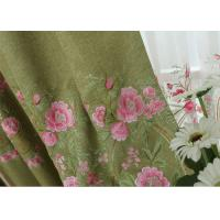 Quality Modern Blue / Green Embroidered Fabrics Garment Cloth Material for sale