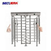Quality Stainless Steel Pedestrian Control Security Full Height Turnstile Barrier Gate for sale