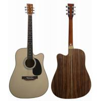 Quality Standard Size Special Zebrawood Back Wood Cutaway Acoustic Guitar AF4122C for sale