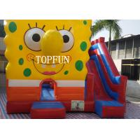 Quality 0.55 mm PVC Tarpaulin Inflatable Jumping Castle With Spongebob CE for sale