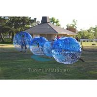 Quality Blue Clear Bubble Ball Game Portable Inflatable Body Bumper Ball for sale