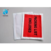 Quality Logistic Shipping packing slip envelopes with custom papers enclosed for sale