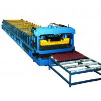 Buy cheap Cr12 Mould Steel Cutter Roof Tile Roll Forming Machine 5.5KW ISO9001 with high production speed from wholesalers