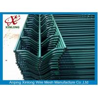 Quality Low Carbon Steel Security Outdoor Galvanized Welded Wire Mesh Panels Dark Green for sale
