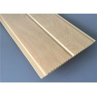 Quality Middle Groove Yellow PVC Wood Panels Lightweight Moisture Proof 5950×200×8mm for sale