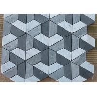 Quality Silver Grey Irregular Marble Mosaic Wall Tile , Mosaic Shower Tile For Bathroom for sale