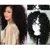 Quality Brazilian Curly Swiss Human Hair Full Lace Wigs For Black WomenWith Baby Hair for sale