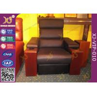Quality Modern Genuine Leather Finished Home Theater Sofa , Leisure Electric Recliner Sofa for sale