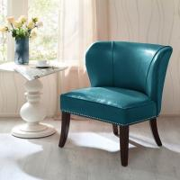 Overstuffed Upholstered Accent Chairs , Leather Accent