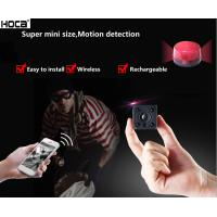 Buy 1080P 2MpFull HD Super mini WIFI audio IR camera with rechargeable battery at wholesale prices