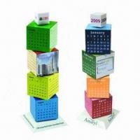 Quality Promotional Building Blocks Calendars, Customized Colors are Accepted for sale