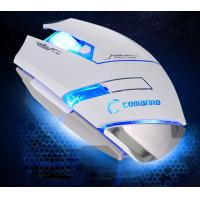 Buy Custom Black Or White Wired Gaming Mouse 500 1000 1500 2000 DPI at wholesale prices
