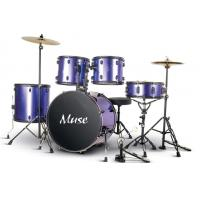 Buy 5 Piece Acoustic Percussion Adult Drum Set With cymbal and throne A525P-901 at wholesale prices