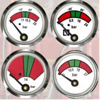 Quality JQ0803 Fire Extinguisher Gauge 23mm Diameter Sturdy / Durable With Bottom Mounting for sale