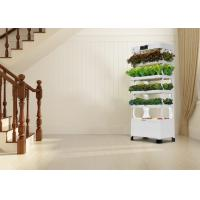 Quality Plant Vegetable Vertical Hydroponics Tower Convenient With LED Grow Light for sale