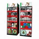 Quality Cardboard Floor Display/Dish Racks, Eco-friendly, Decorative Supermarket Equipment for sale
