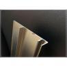 Silvery 6063 T3 / T5 Aluminum Extrusion Profiles , Customized Aluminum Profile for sale