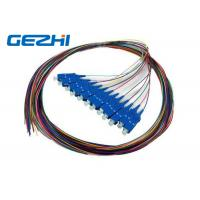 Buy cheap SC / UPC SC / PC Multi Core Fiber Optic Pigtail cables 12 Core 0.9mm Customised Length from wholesalers