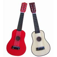 Quality White / Red Steel String Wooden Toy Guitar 21 Inch With Birch Neck AG21-404 for sale