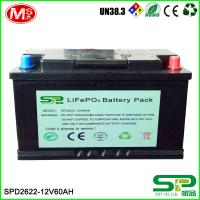 Quality Large capacity and high energy battery pack 12v 60Ah Lifepo4 Battery Pack Lithium Battery 12v 60Ah Replace Lead Acid for sale