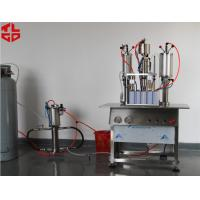 Quality Semi Automatic Hair Spray Mousse Styling Gel Aerosol Can Filling Machine for sale