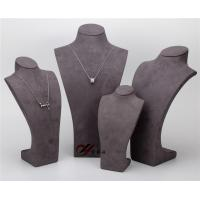 Quality Pendant Resin Display Stand , Gray 5  Pcs / Set Suede Jewelry Stand for sale