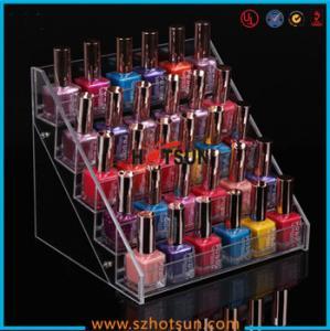 Quality Clear Acrylic Nail Polish Display Stand, 5 tier nail polish display rack for sale