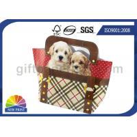 Quality Custom Printing Diecut Dog Handbag Paper Bag for Christmas Gift Packaging Bag for sale
