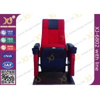 Quality Steel Frame Powder Coating Folding Theater Seats / Cinema Folding Chair for sale