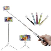 Quality Bluetooh Monopod Bluetooth Remote Shutter Selfie Stick with Phone Holder Stand for sale