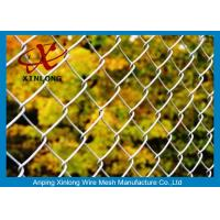 Quality Dark Green 40*40mm Galvanized Chain Link Fence For Forest Protecting And Building Site for sale