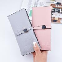 Quality Female Foldable Leather Clutch Wallet Large Capacity For Money Coin Card Holders for sale