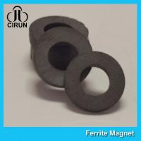 Quality Y35 Grade Permanent Ferrite Ring Magnet SrO / Bao And Fe2O3 Material for sale