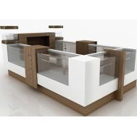 Quality Small Attractive Retail Mall Kiosk Veneer Wooden Glasses Material 12 Square Meters for sale