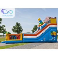 Quality 6.5m Beach Water Jumping 4 In 1 Inflatable Water Slides for sale