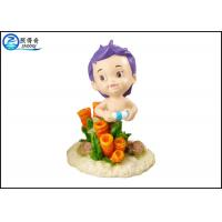 Quality Unique Little Boy Polyresin Aquarium Tank Decorations Cartoon Ornaments for sale