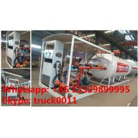 Quality bottom price 10,000Liters skid lpg gas station for filling taxi, factory sale 10m3 skid lpg tank witjh lpg dispenser for sale