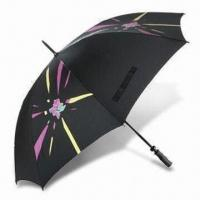 Quality London 2012 Golf Umbrella with Fiberglass Frame, Made of Recycled Polyester for sale