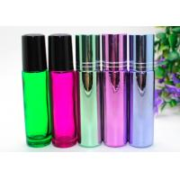 China SGS Perfume Empty Roll On Bottle 10ml Amber Glass With Metal Roller Ball on sale