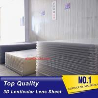 Quality Lenticular Plastic materials 70LPI PET 0.9MM 60X80CM for 3d lenticular printing by injekt print and UV offset print for sale