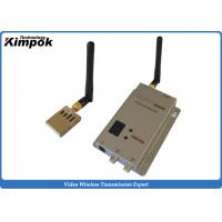 Quality Miniature FPV / UAV Video Transmitter 1000m LOS From Air to Ground Wireless AV Link for sale
