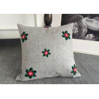 Quality Embroidered Elegant Decorative Cushion Covers 100% Cotton For Couch / Sofa for sale
