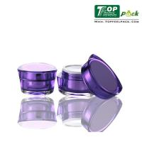 Quality Night Cream Acrylic Cosmetic Containers Petal Shape Silkscreen Printing Logo for sale
